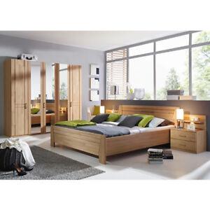 Schlafzimmer Sitara Kleiderschrank Bett Nachtkommode Wildeiche natur ...