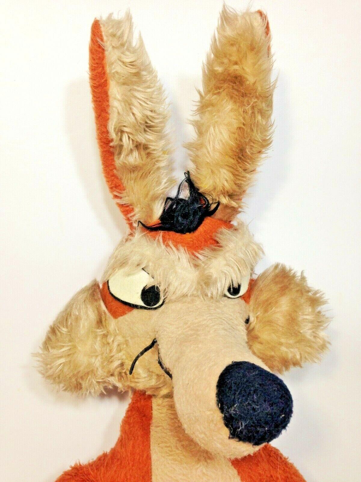 Wile E Coyote Plush Plush Plush RARE Jumbo 32  Warner Bros Looney Tunes Vintage 1970's Toy 224