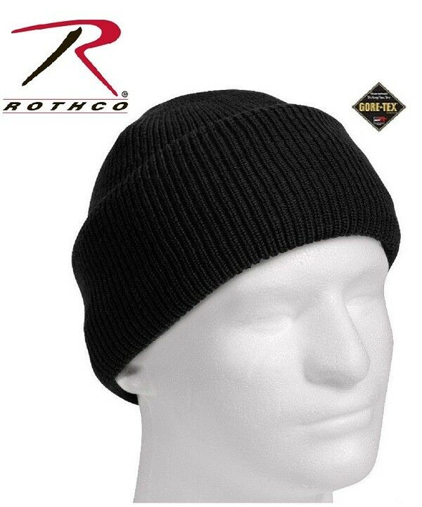 154b6f806 Rothco 8491 Black Gore-tex Fabric Military Knit Watch Cap