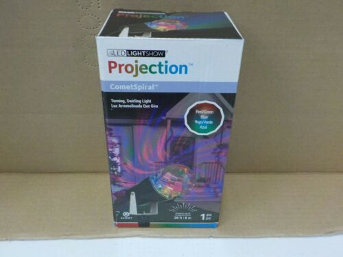 LED LIGHTSHOW PROJECTION COMETSPIRAL RED GREEN BLUE SWIRLING LIGHT NEW #11634