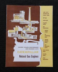 1960-Caterpillar-034-le-Chat-G342-G375-G397-Gas-Moteur-034-Enregistrement-Cottonmill