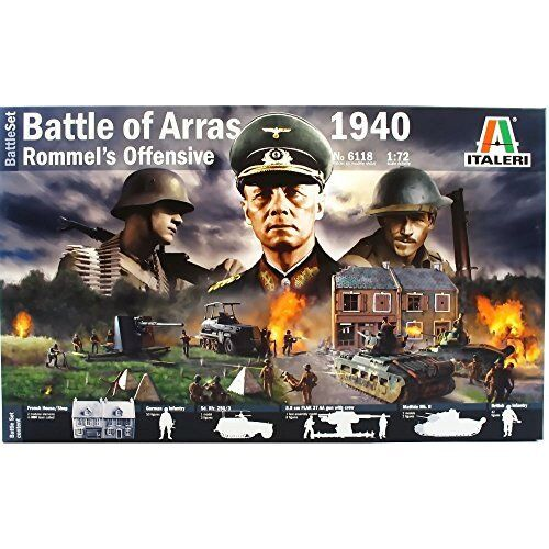 WWII Battle Of Arras 1940 Rommel's Offensive Diorama Plastic Kit 1:72 Model
