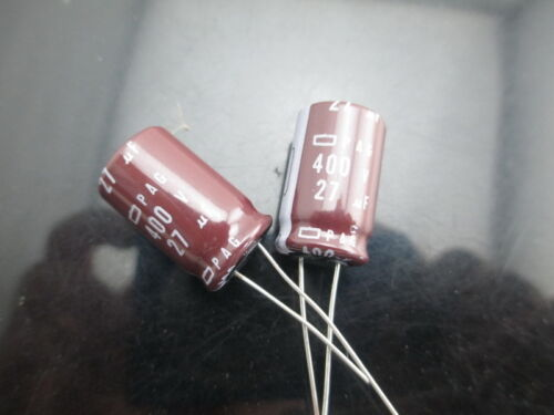 4pcs NCC Nippon Chemi-Con PAG 27mfd 400v 27uf electrolytic Capacitor 105C