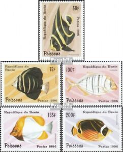Never Hinged 1996 Fish Benin Frugal Benin 897-901 Unmounted Mint Stamps
