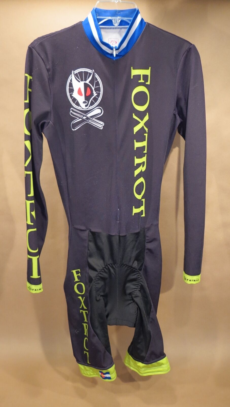 Foxtred Cycling Skinsuit • Large • Primal • APX Chamois • Long Sleeve • Fox Tred