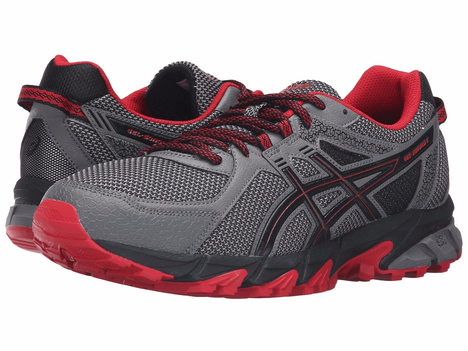 NIB Men's Asics Gel Sonoma 2 Trail shoes Venture Carbon Red 412 610 Choose Size