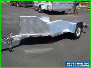 2022 aluma mc10 New single motorcycle aluminum trailer w air dam w chock 5x10