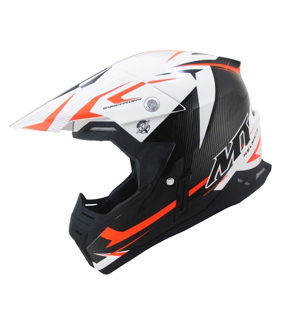 mt synchrony steel motocross helmet orange mx bike crash. Black Bedroom Furniture Sets. Home Design Ideas