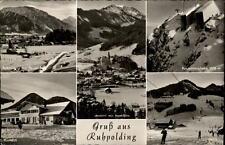 Ruhpolding Bayern Mehrbildkarte 1960 Rauschbergbahn Kurhaus Skilift Hochfelln
