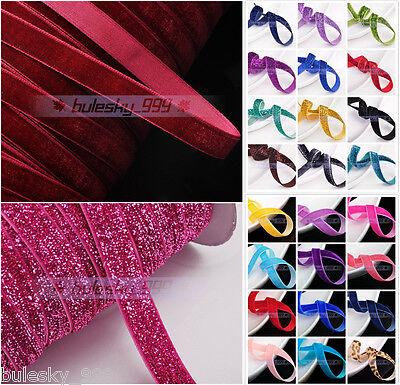 "10~200 Yards 3/8"" 10mm Flocked Velvet Ribbons Bows DIY Sewing Trim Crafts"