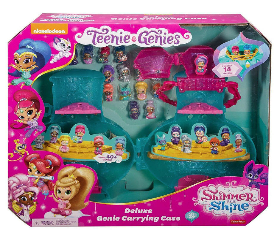 LOT 2 2 2 - Shimmer and Shine Deluxe GENIE CARRYING CASE + 22  Teenie Genies NEW 681d9f