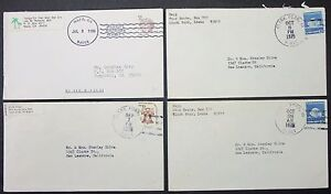 US-Postage-Set-of-4-Covers-Letters-Envelopes-Rapp-Clark-Fork-USA-Letters-Y-182