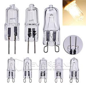 100x-230-12V-G4-G9-Hochvolt-Halogen-Halopin-Stiftsockel-Leuchtmittel-Licht-Lampe