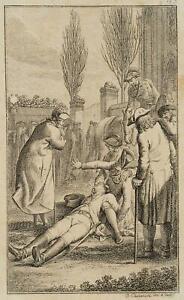 Chodowiecki (1726-1801). tristezza e svenimento; pressione grafico 1