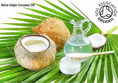 Organic Coconut Oil, Extra Virgin, Unrefined - Natural - Fast FREE UK Shipping