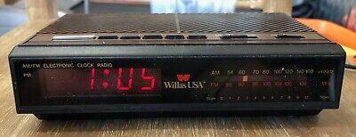 Best Clock Radio 2021 Vintage Willas USA AM/FM Electronic Clock Radio Alarm Snooze CR