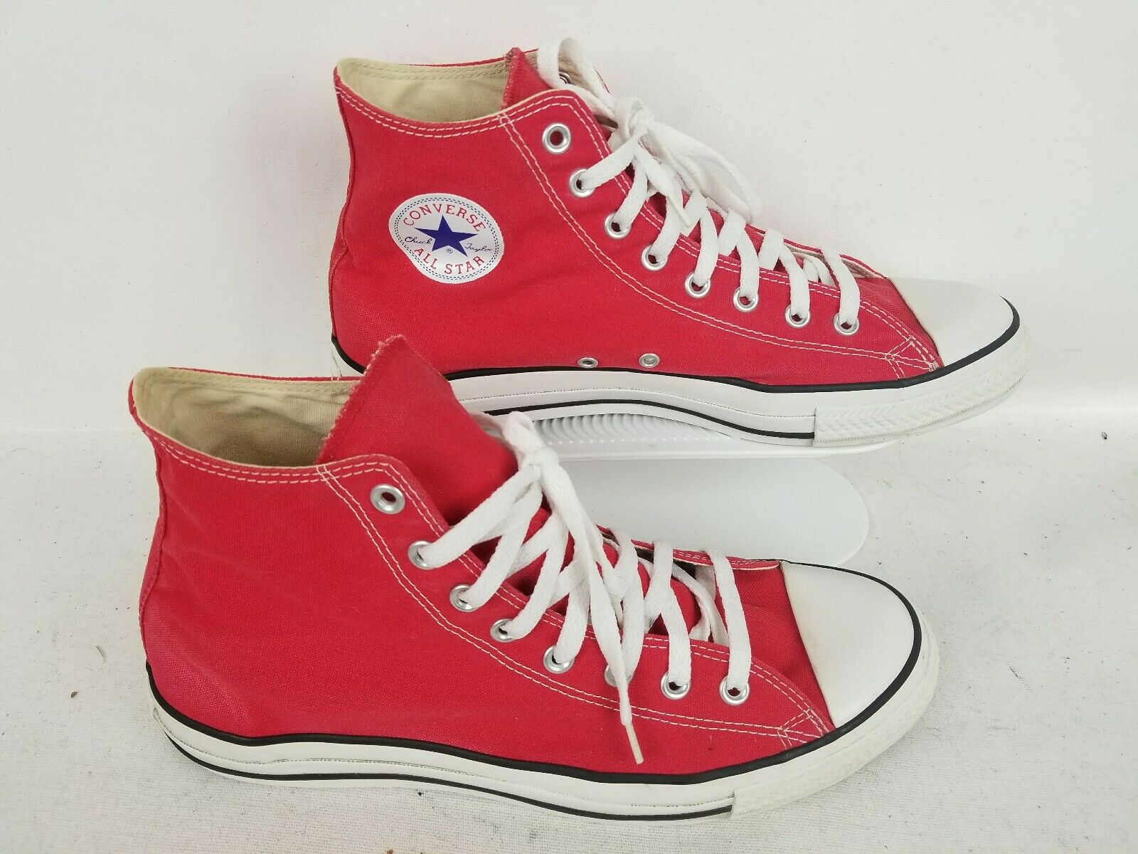 Converse Chuck Taylor All Star High Top paniers Chaussures Rouges Taille 12