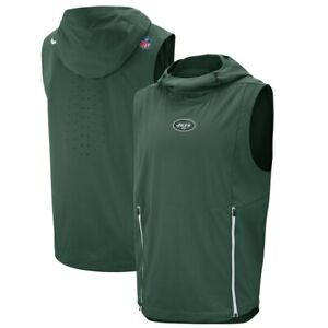 Details about NIKE NFL NEW YORK JETS Fly Rush Hoodie Vest 906404 323 GREEN (MEN'S XL)