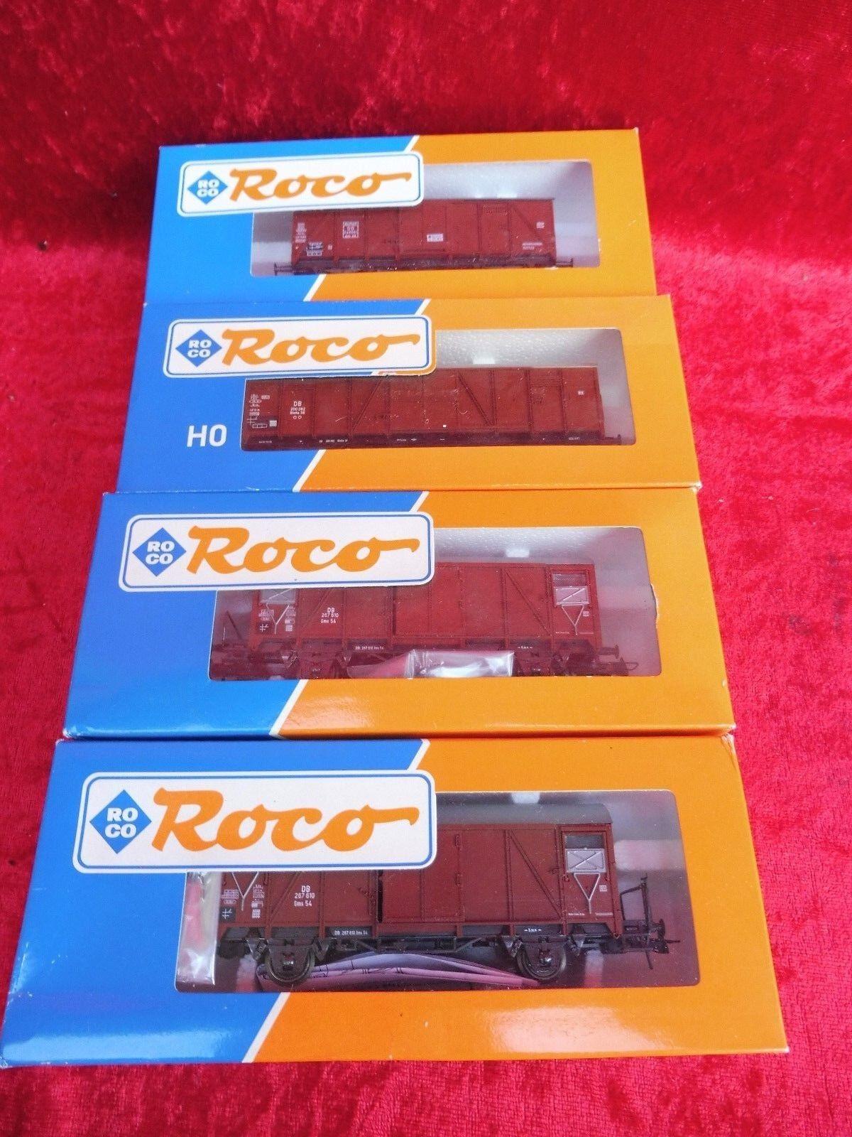 4 hermosas wagons __ roco 46042 - 46105 - 2x 46256 __
