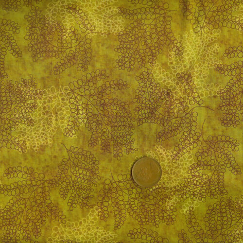 Hoffman Prints de Soleil 3313-232 Ocre Yellow//Brown 100/% Cotton Fat Quarter