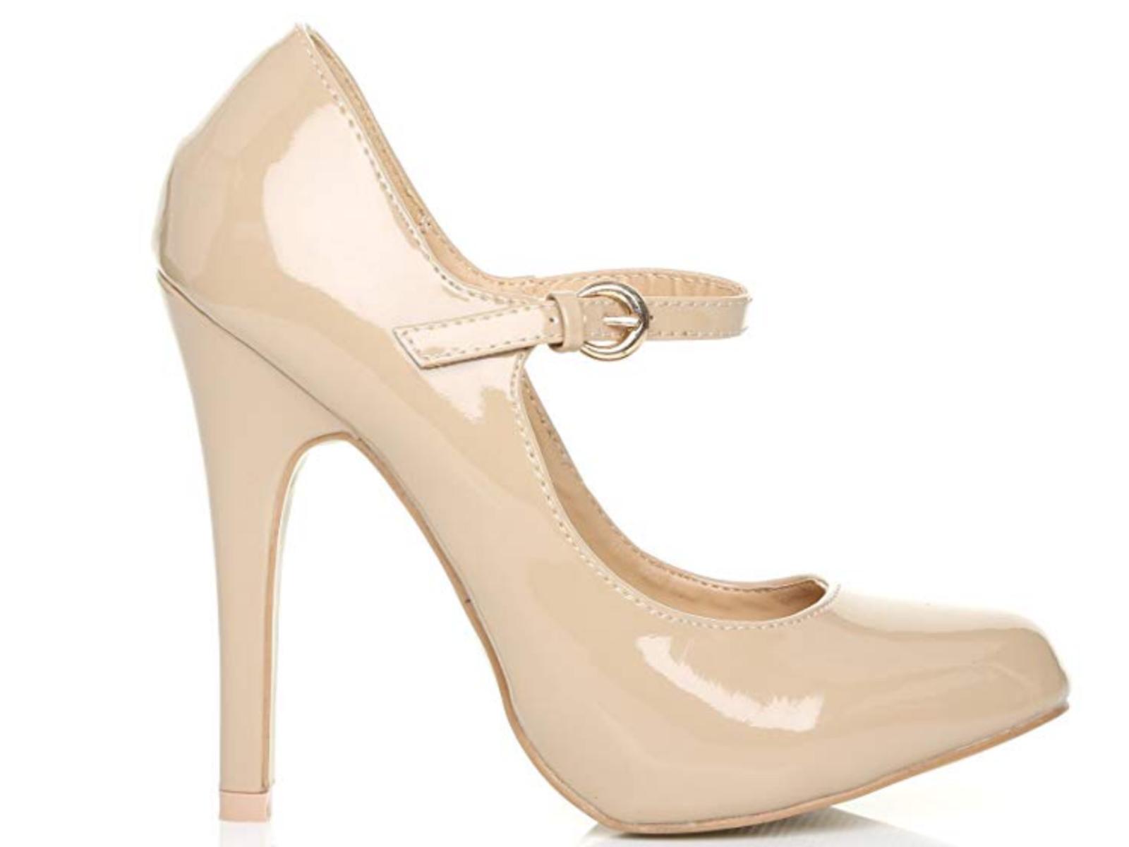 Shu Wish UK Nude Patent läder läder läder Mycket High Mary Jane Storlek 9 Stilettos  köpa billigt