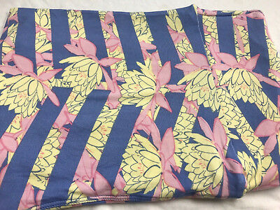 Lularoe navy,pink,coral,purple pastel floral Print TC2 Legings PlusSize NEW HTF!