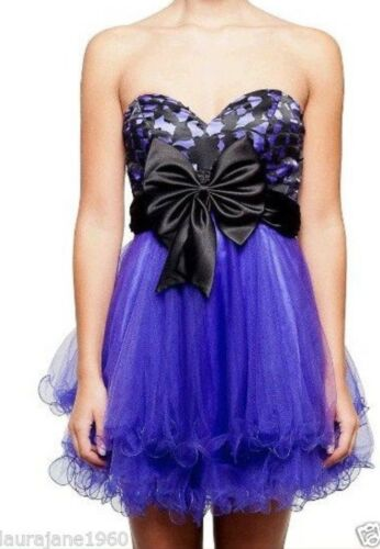 Laced Back Dance Black Dress Unique And Forever Big Purple Joyce Bow nbsp;10 Bnwt q6vnSTwZ