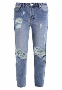 PréCis Glamorous Taille S 36 Relaxed Fit Jeans Pantalon Femmes Bleu Aspect Use Neuf A5052 Un Style Actuel