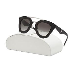 d26e5ff7d1 Prada 14SS Womens Sunglasses 1AB0A7 Black Frame Grey Gradient Lenses ...