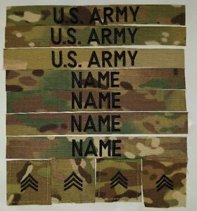 U.S. Army Scorpion (OCP)NAME TAPES AND RANKS SEW ON 11-piece Set  eea634cec2ea