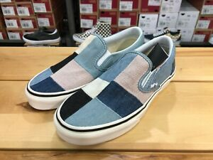 VANS-PATCHWORK-DENIM-SLIP-ON-VN0A38F7Q9H-New-Authentic-Sneakers-Shoes