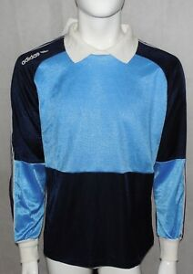 huge selection of d4d39 709c3 Details about Vtg Adidas Football Goalkeeper Jersey Shirt 80s Sz L New Made  in France Brasilia