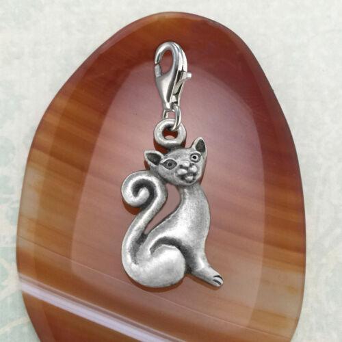 B Cat Pewter Charm