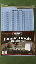 25 New BCW Comic Book Dividers with Index Tab for long and short storage boxes