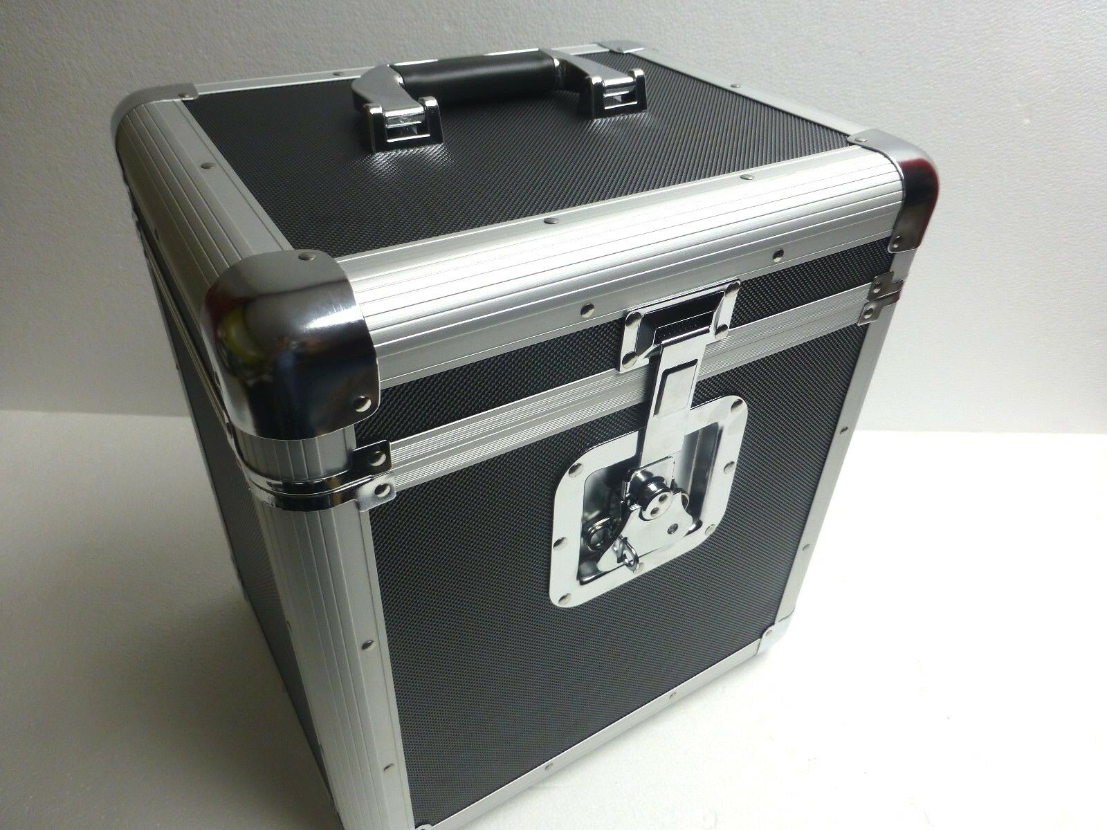 12  or LP Record Box Euro Style Case Holds Up To 70 Vinyl Records