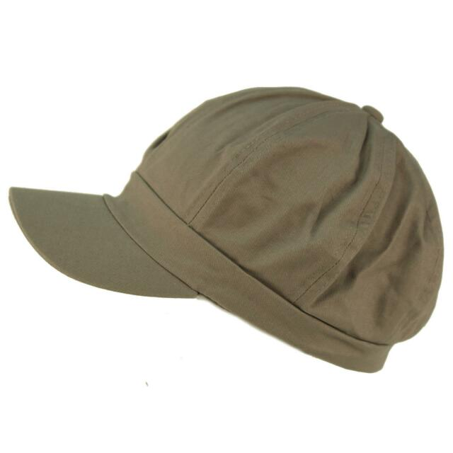 f97910c8c Summer 100 Cotton Plain Blank 8 Panel Newsboy Gatsby Apple Cabbie Cap Hat  Gray