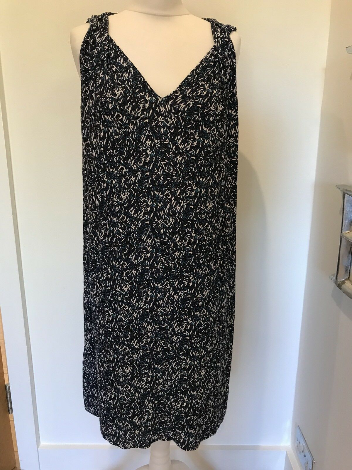 Gorgeous Comptoir Des Cotonniers bluee Print Sleeveless Dress Size XL Worn Twice