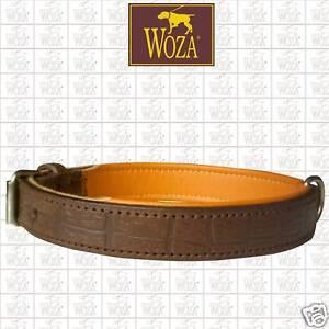 WOZA-Premium-Hundehalsband-Vollleder-Praegung-Handgenaeht-Soft-Rindnappa-HP2007