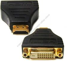gold HDMI Male~DVI Female cable Adapter HDTV/TV/LED/LCD/DVR/DVD/PC 1080p$SHdisc