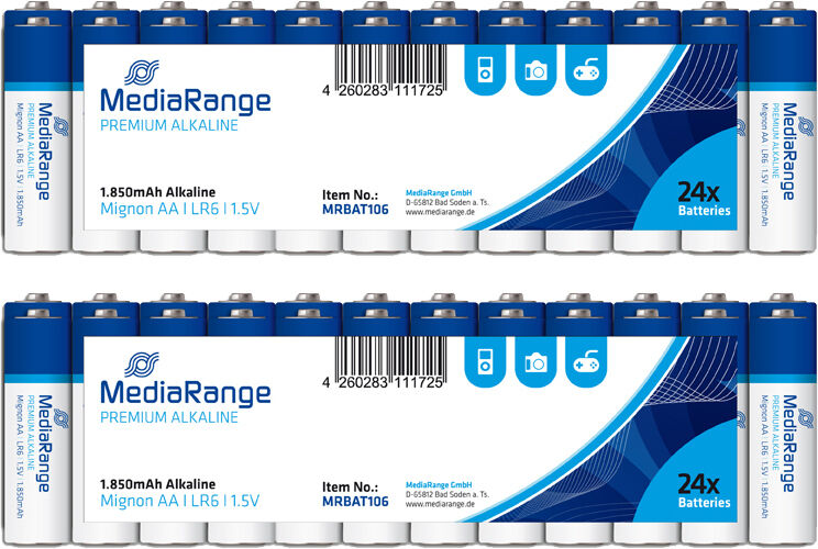 240 MediaRange AlkalineBatterienAA 1,5V Mignon Premium R6 Batterie LR06