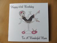 Personalised Handmade Birthday Card 18th 21st etc Mum Sister Nan