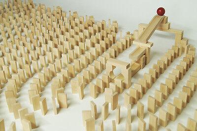 830 Dominosteine natur Bausteine Holz Bauklötze Holzklötze Holzbausteine Domino.