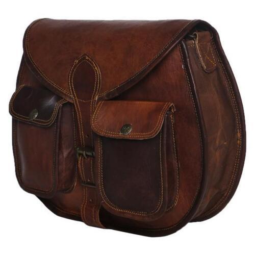 Women Vintage Leather Messenger Hip Cross Body Bag Handmade purse Hobo Tote