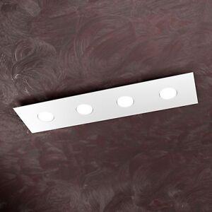 Plafoniera Moderna Soffitto.Dettagli Su Lampada Soffitto Plafoniera Moderna 4 Luci Lunga Arredo Ambiente Interni