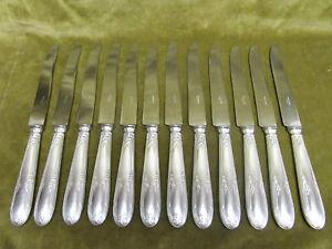 12-couteaux-de-table-metal-argente-Louis-XVI-dinner-knives-orbrille