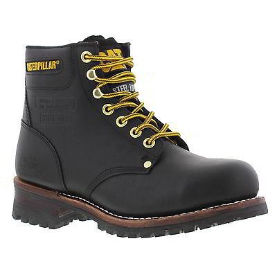 New Mens Caterpillar Sequoia 6 Inch Black Steel Toe Cap Boots SIZES 7-12 UK