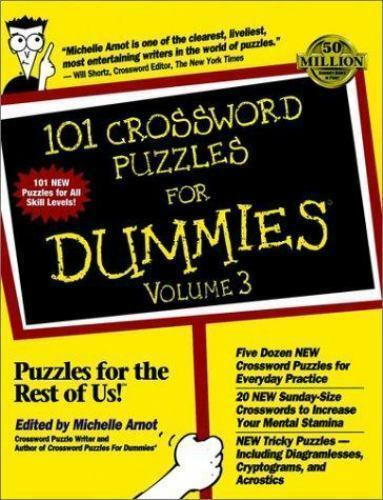 101 Crossword Puzzles for Dummies by Michelle Arnot