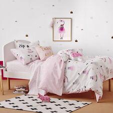 TUTU CUTE PINK SINGLE bed QUILT DOONA DUVET COVER SET NEW ADAIRS