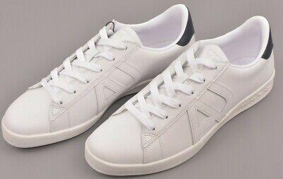 ARMANI JEANS Men's White Leather Casual