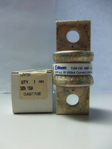 New Edison TJN 150 150 Amp Semiconductor Fuse 300 Volts Bussmann JJN 150 NIB